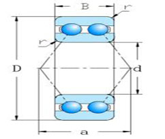 52,53 series Double row Angular Contact Ball Bearings