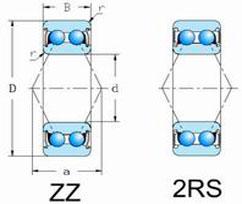 52,53 2RS,ZZ Series Double row Angular Contact Ball Bearings