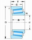 Single row metric size tapered roller bearings